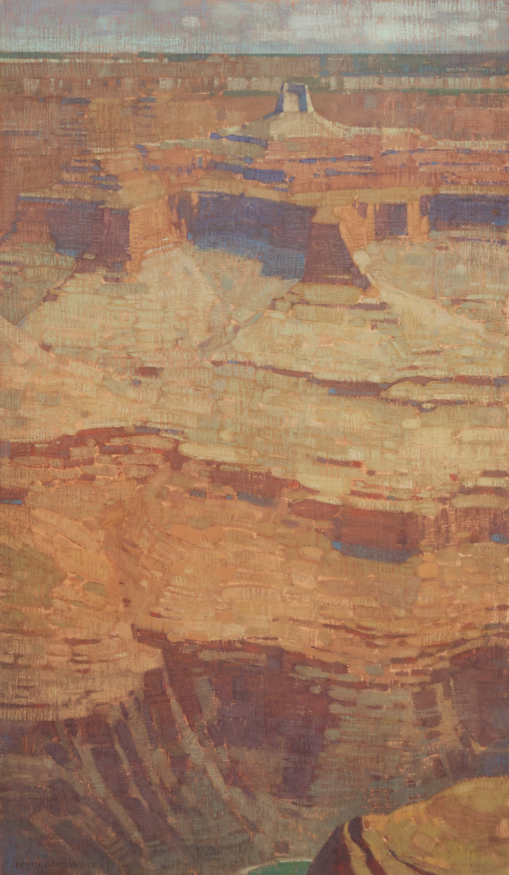 "David Grossmann ""Canyon Heights"" 34""x20"" Oil"