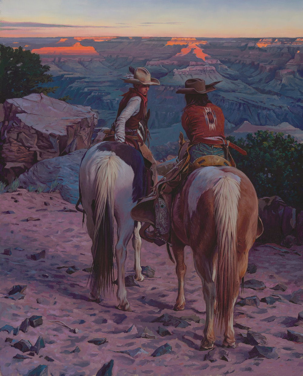 "(SOLD) Mark Maggiori ""Secret Talk at Sunset"" 30""x24"" Oil"