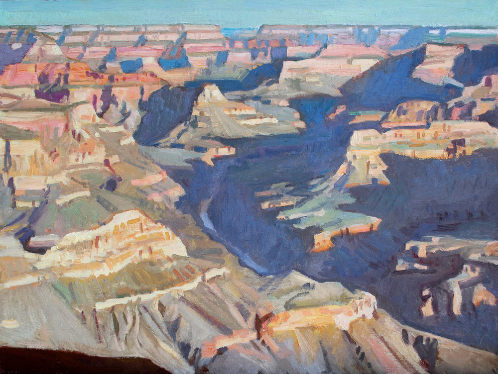 "Ray Roberts ""View Towards Horus Temple, Grand Canyon"" 18""x24"" Oil"