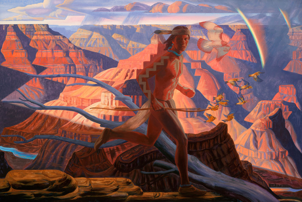 "Bryan Haynes ""Havasupai Grand Canyon"" 36""x54"" Oil"