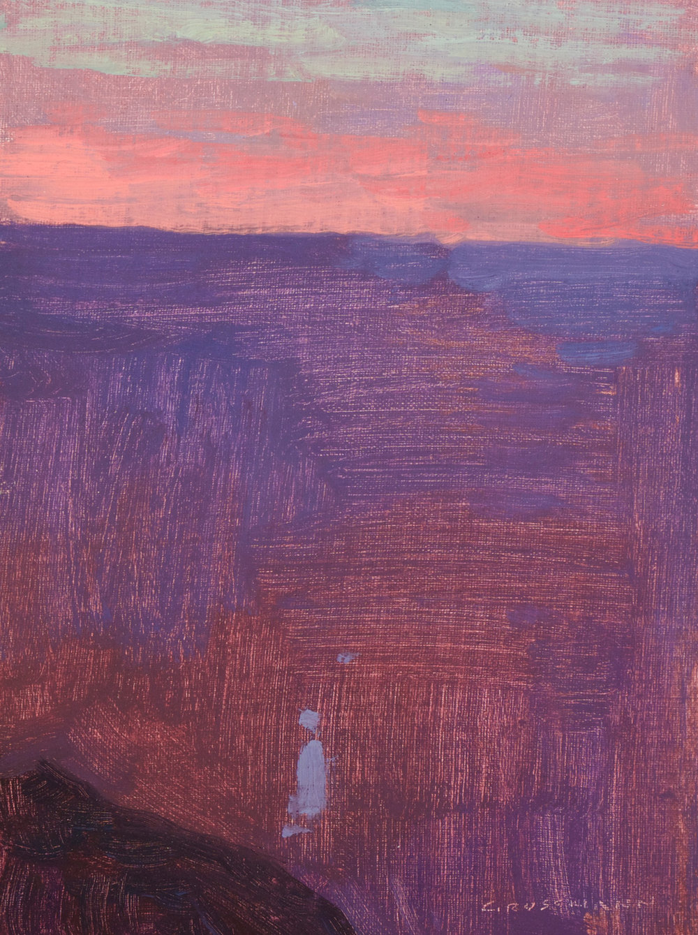 "David Grossmann ""Sunset Glow, Grand Canyon"" 8""x6"" Oil"