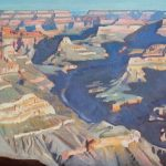 "Ray Roberts, ""View Towards Horus Temple, Grand Canyon National Park""       oil, 18 x 24."