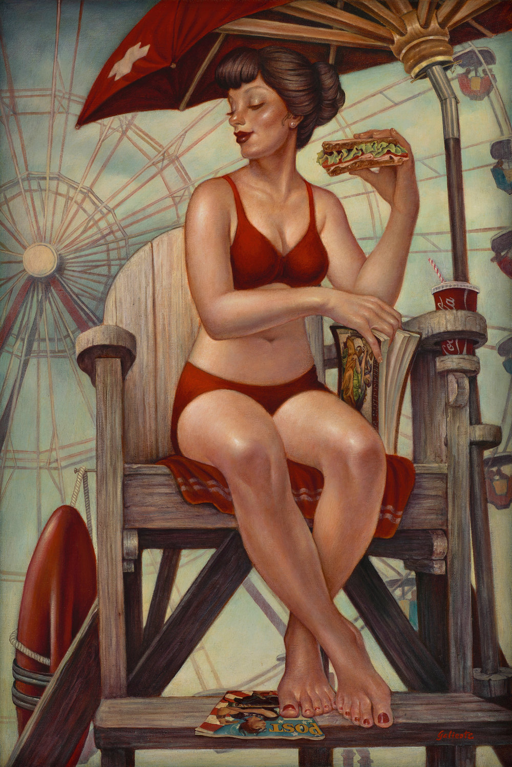 """Rosie's Lunch Break"" Oil 36""x24"""