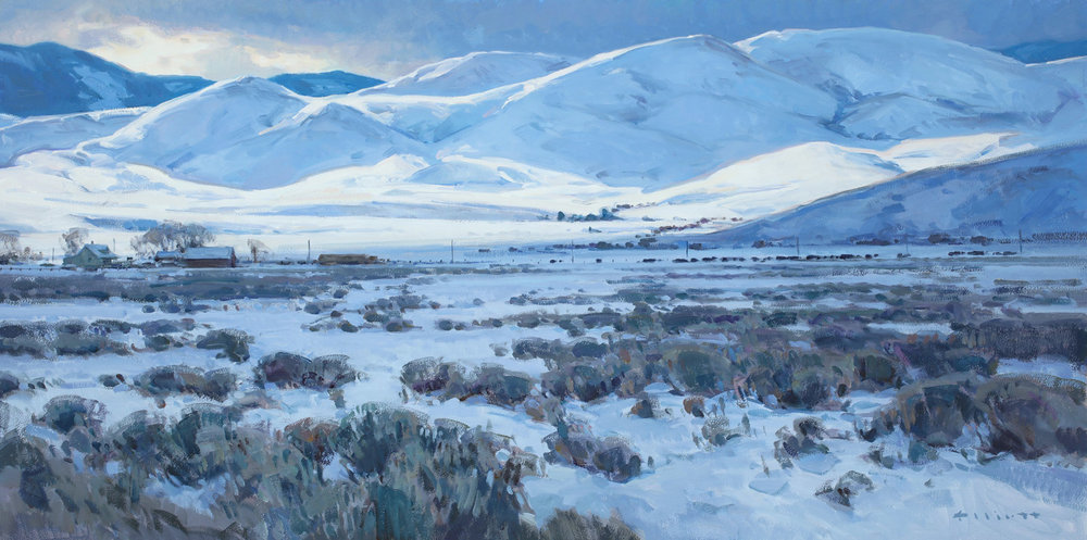 "Josh Elliott ""The Hills of Home"" 15""x30"" Oil"