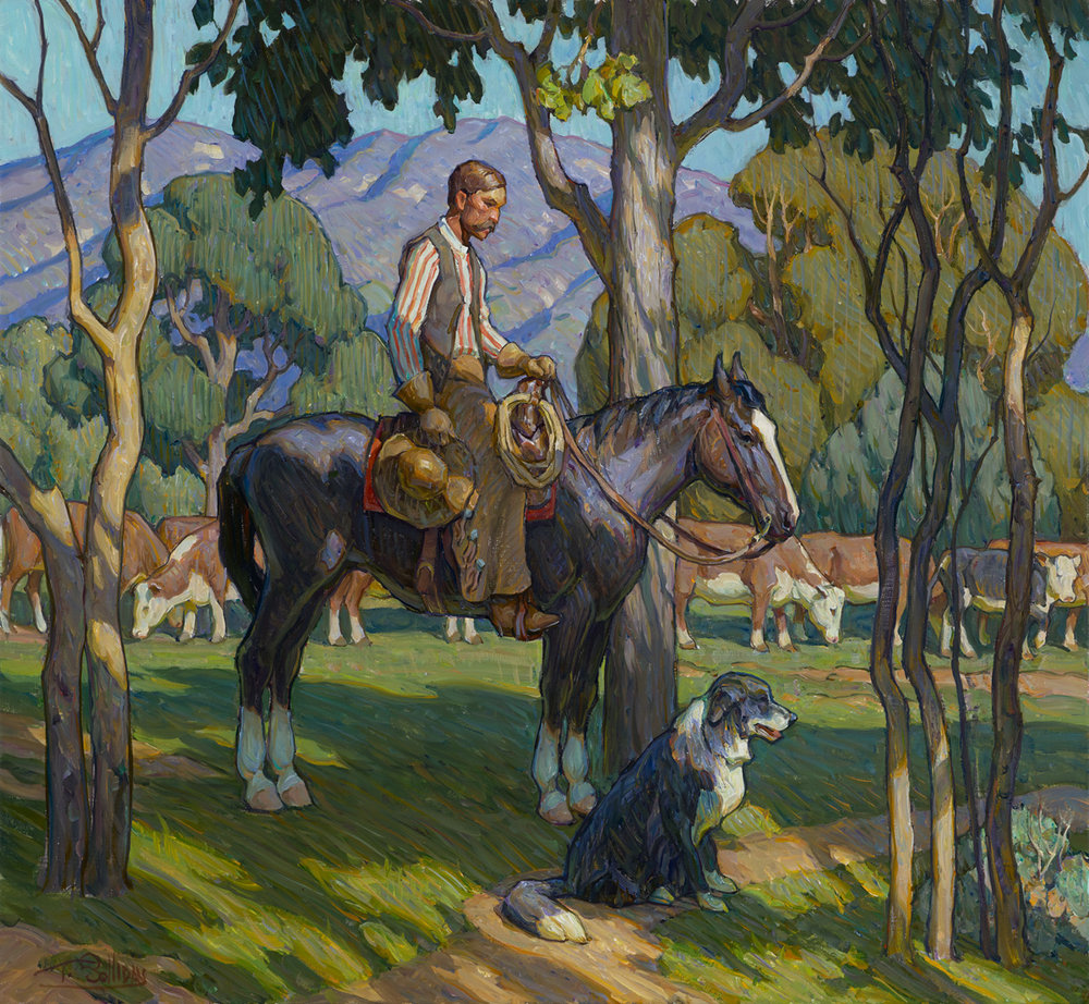 "(SOLD) Tim Solliday ""Shady Pastures"" 28""x30"" Oil"