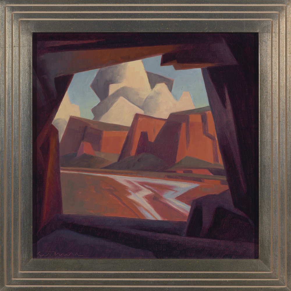 "Ed Mell ""Stone Window"" 12""x12"" Oil"