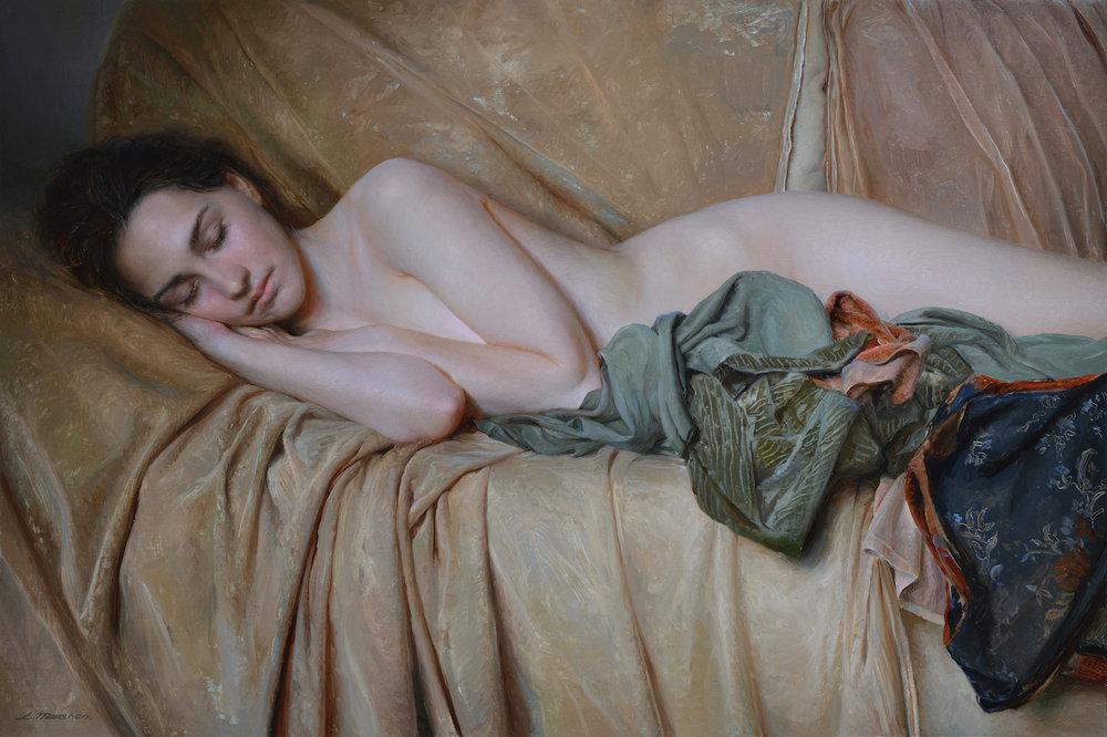"""(SOLD) Serge Marshennikov """"Artist's Model"""" 16""""x24"""" Oil"""