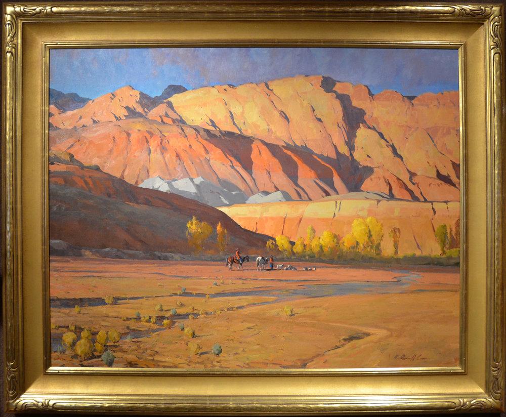 "G. Russell Case ""Last Light Vermillion Cliffs"" 42""x54"" Oil"
