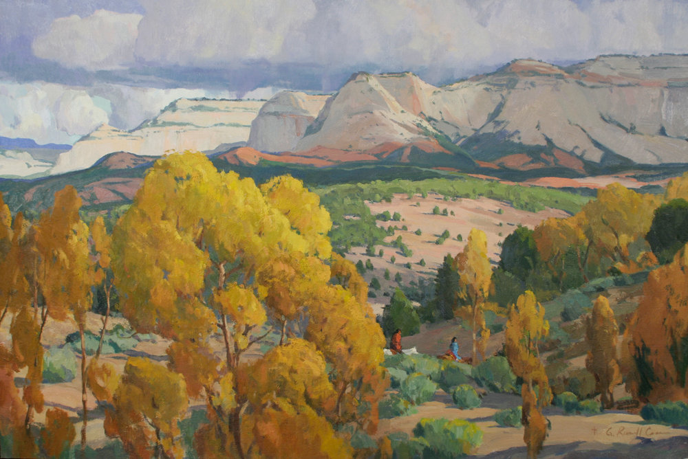 "G. Russell Case ""Autumn at White Cliffs"" 24""x36"" Oil"