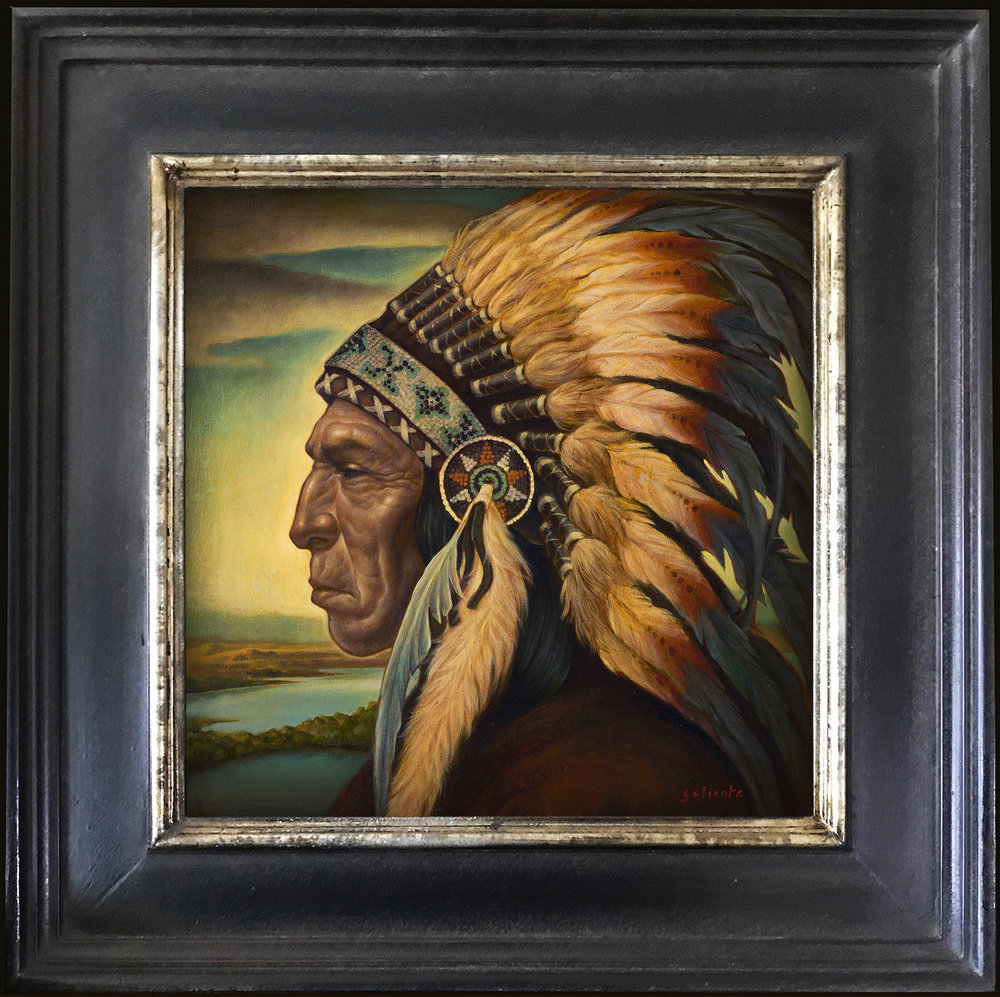 """Danny Galieote """"His Land"""" 14""""x14"""" Oil"""