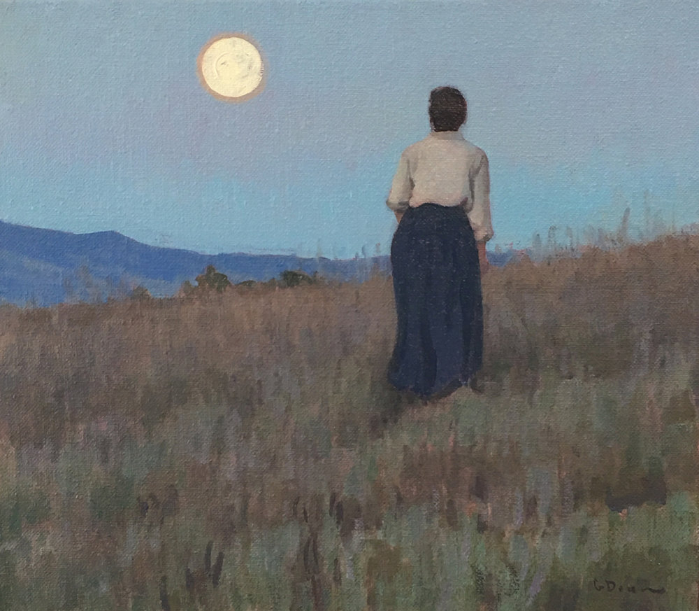 "(SOLD) ""Luna Belle"" 14""x16"" Oil"