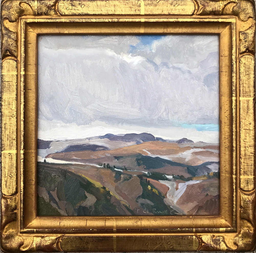 """(SOLD) G. Russell Case """"Timberline"""" 8""""x8"""" Oil"""