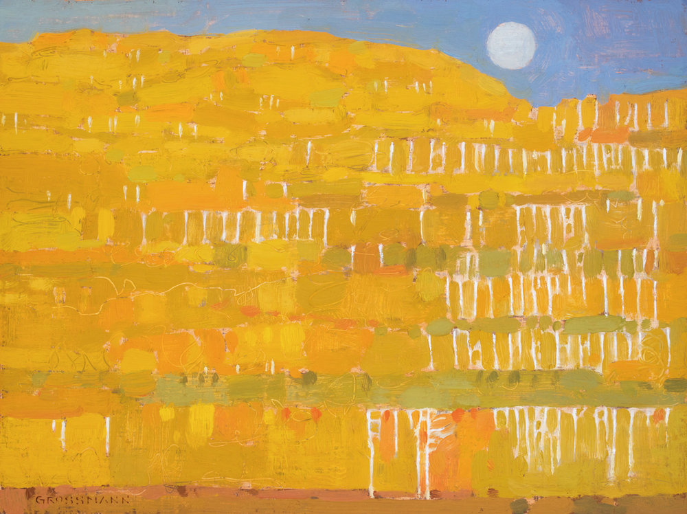 "David Grossmann ""Autumn's Patchwork"" 9""x12"" Oil"
