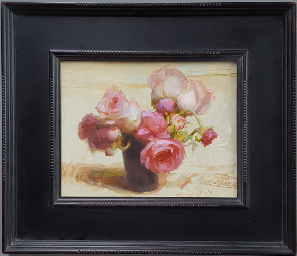"Susan Lyon ""Pink Bouquet"" 11""x14"" Oil"