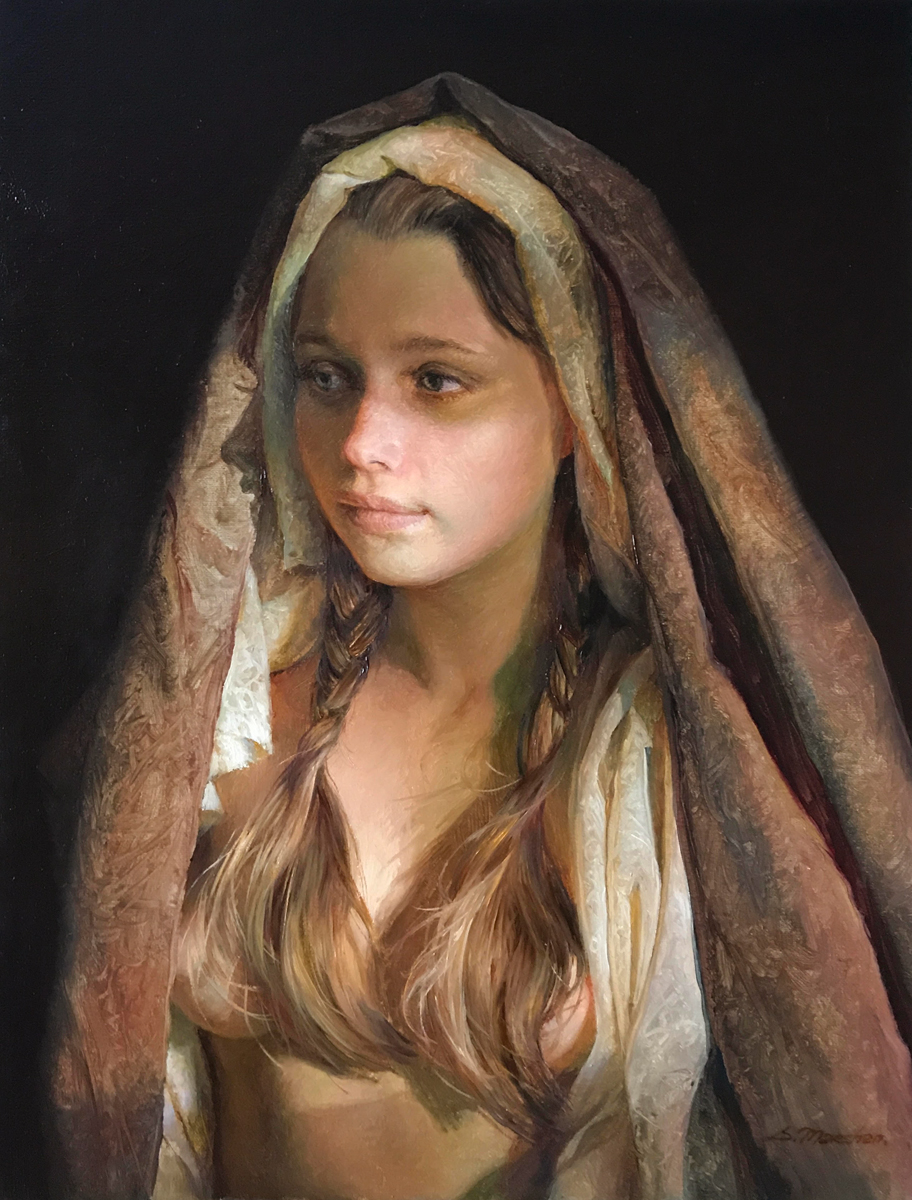 "(SOLD) Serge Marshennikov ""Transfiguration"" 11.5""x9"" Oil"