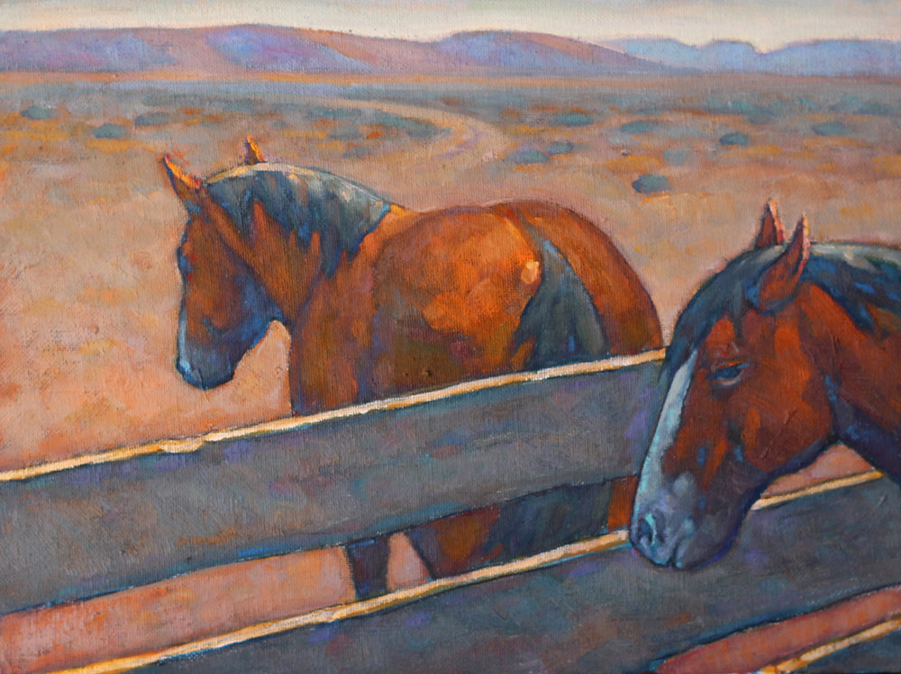 "(SOLD) Howard Post ""One In, One Out"" 9""x12"" Oil"