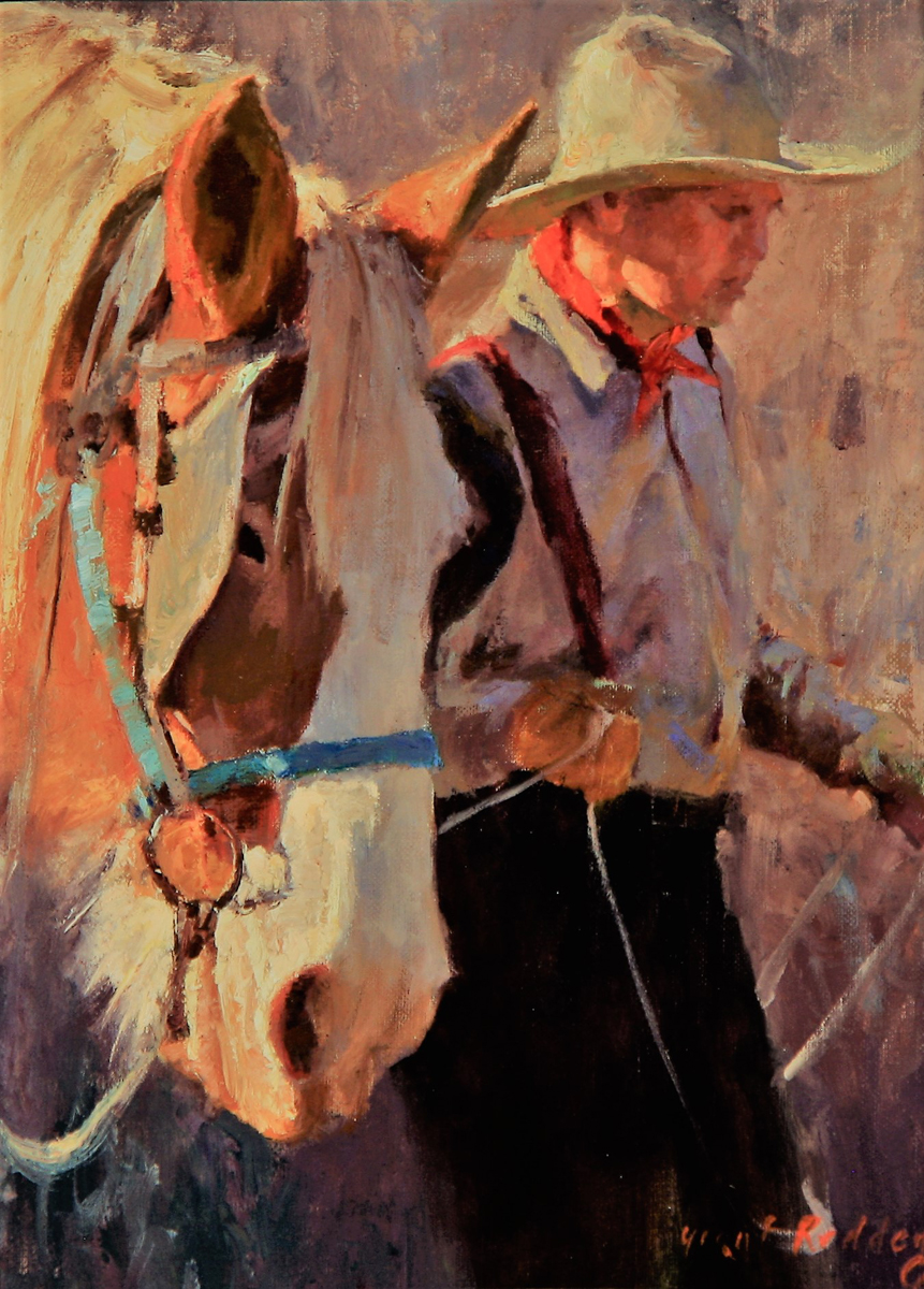 "(SOLD) Grant Redden ""Captain and Pete"" 12""x9"" Oil"