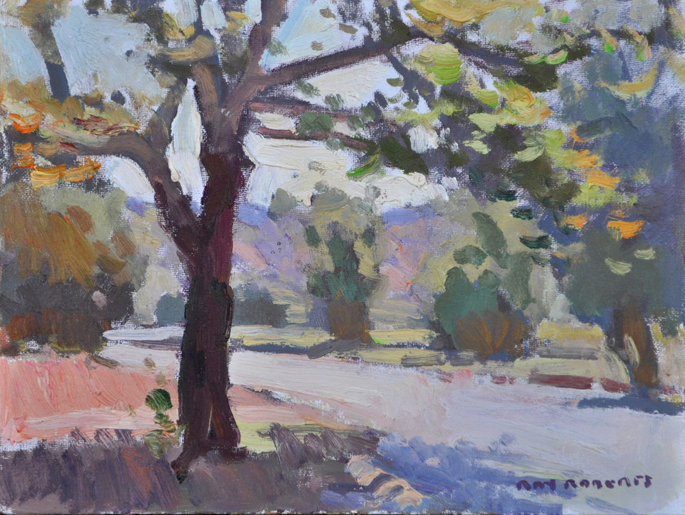 "Ray Roberts ""California Sycamore"" 9""x12"" Oil"