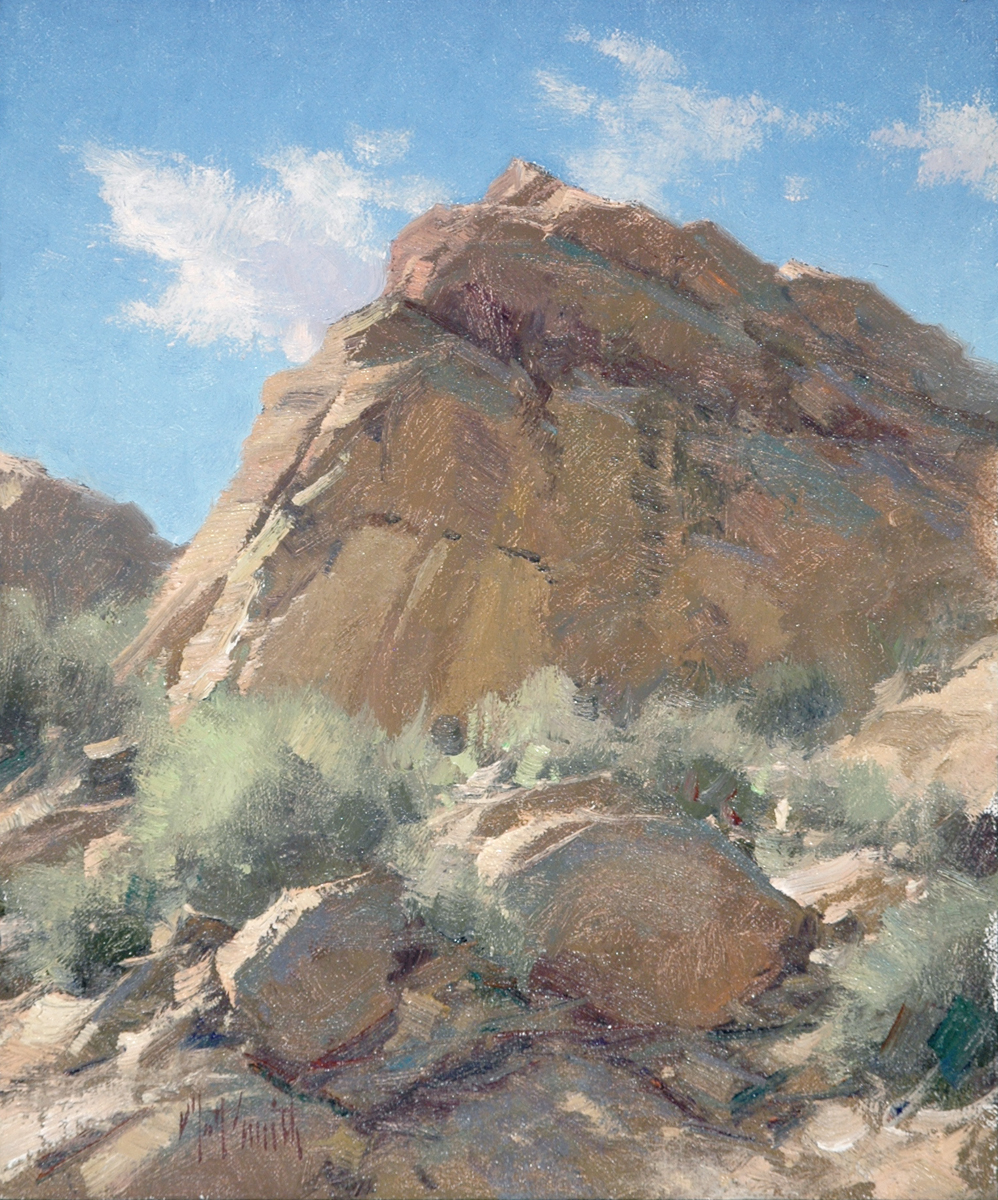 "Matt Smith ""The Butte"" 12""x10"" Oil"