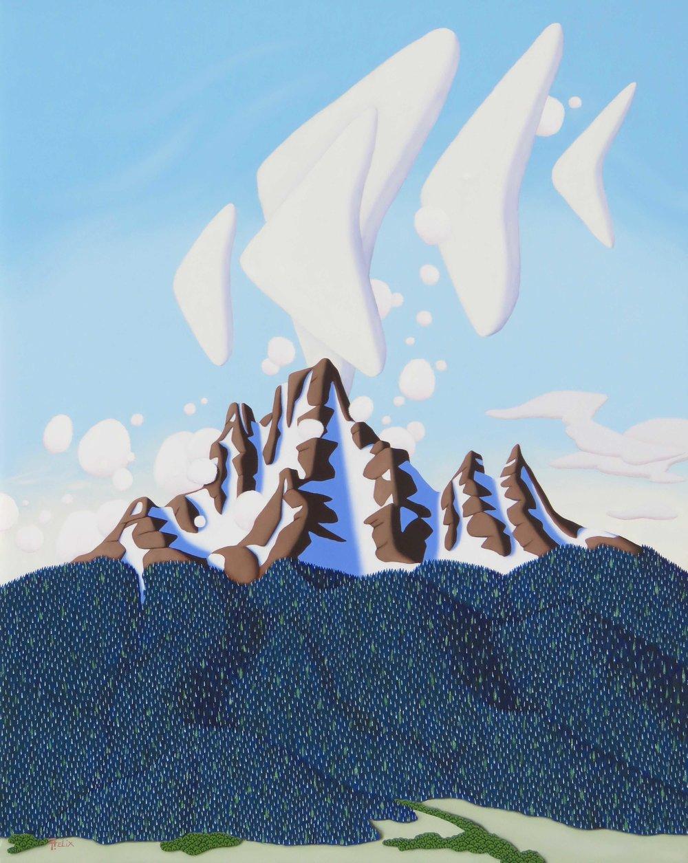 "Tracy Felix ""Cloud Show"" 30""x24"" Oil"