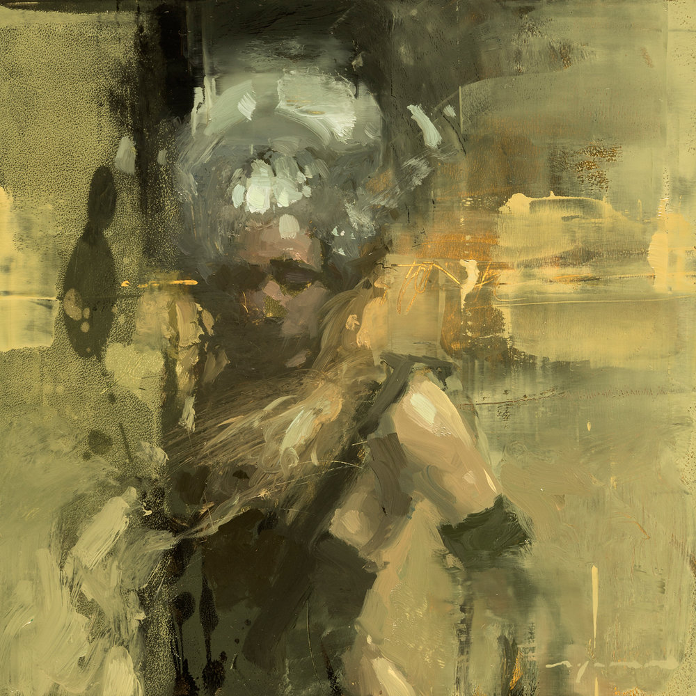 """Figure Composed Form Study 19"" 6""x6"" Oil"