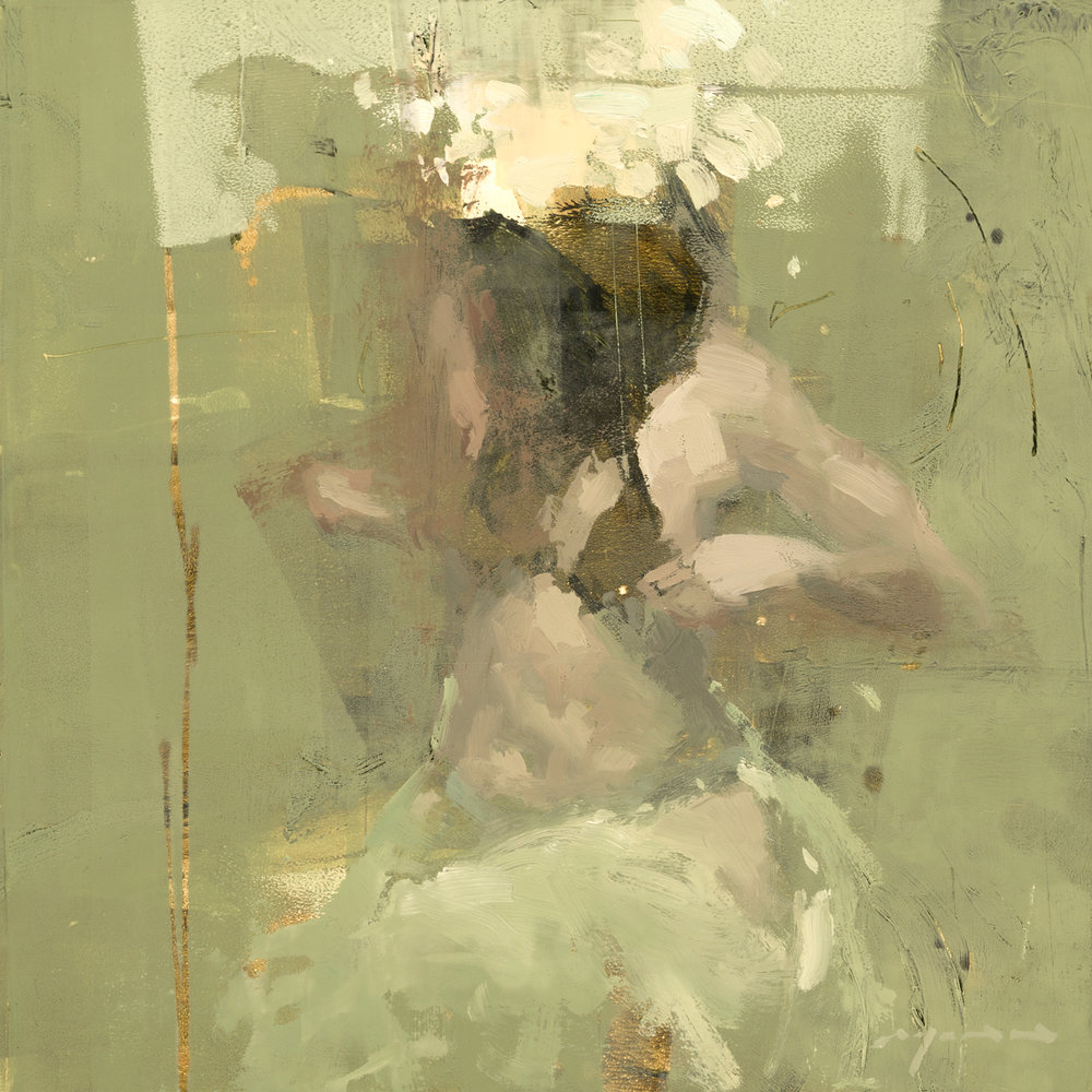 """Figure Composed Form Study 22"" 6""x6"" Oil"
