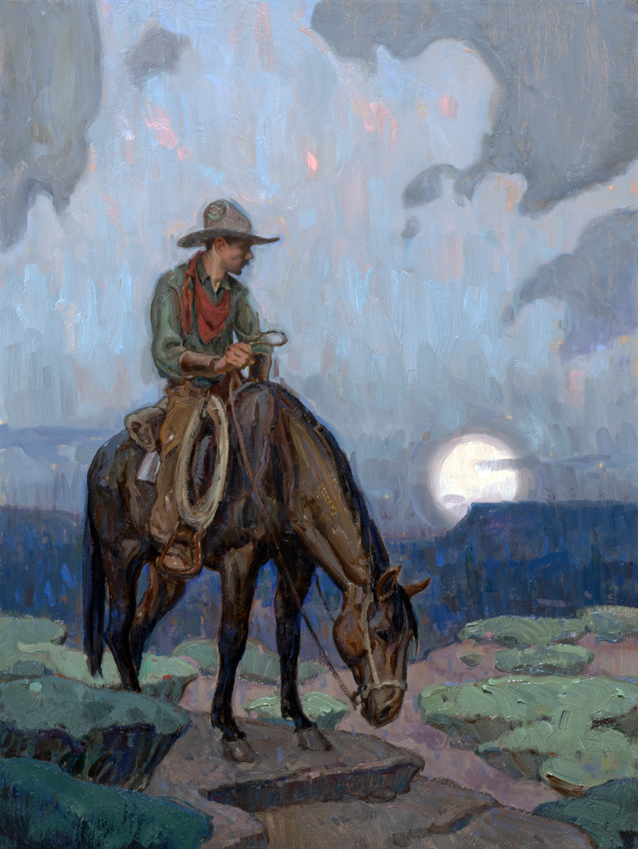 """(SOLD) """"Lonesome Trail"""" 16""""x12"""" Oil"""