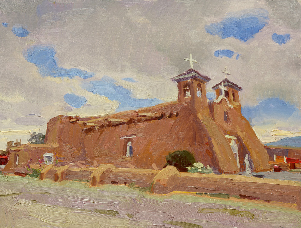 "(SOLD) Scott Burdick ""San Francisco de Asis Mission Church"" 12""x16"" Oil"