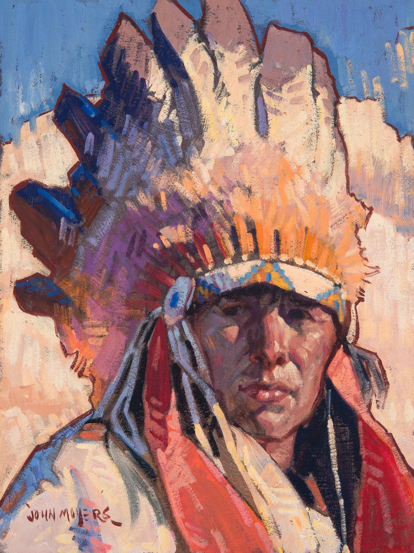 "John Moyers ""Taos Summer"" 12""x9"" Oil"