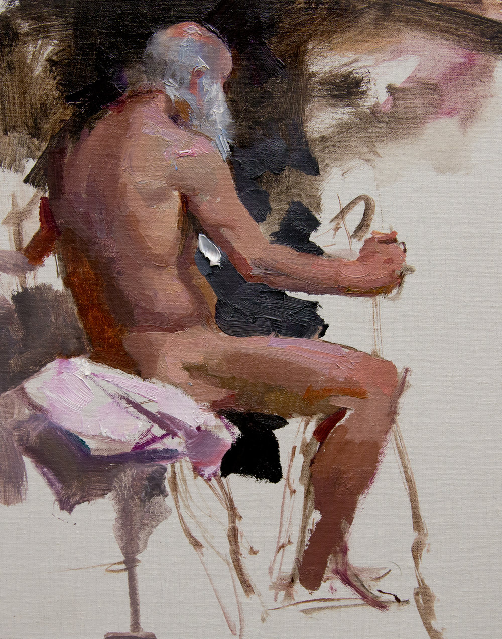 """Figure Sketch"" 10""x8"" Oil"
