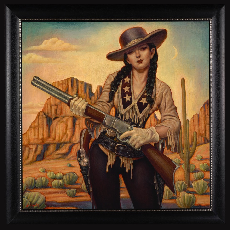 "Danny Galieote ""Theres A New Sheriff In Town"" 24""x24"" Oil"