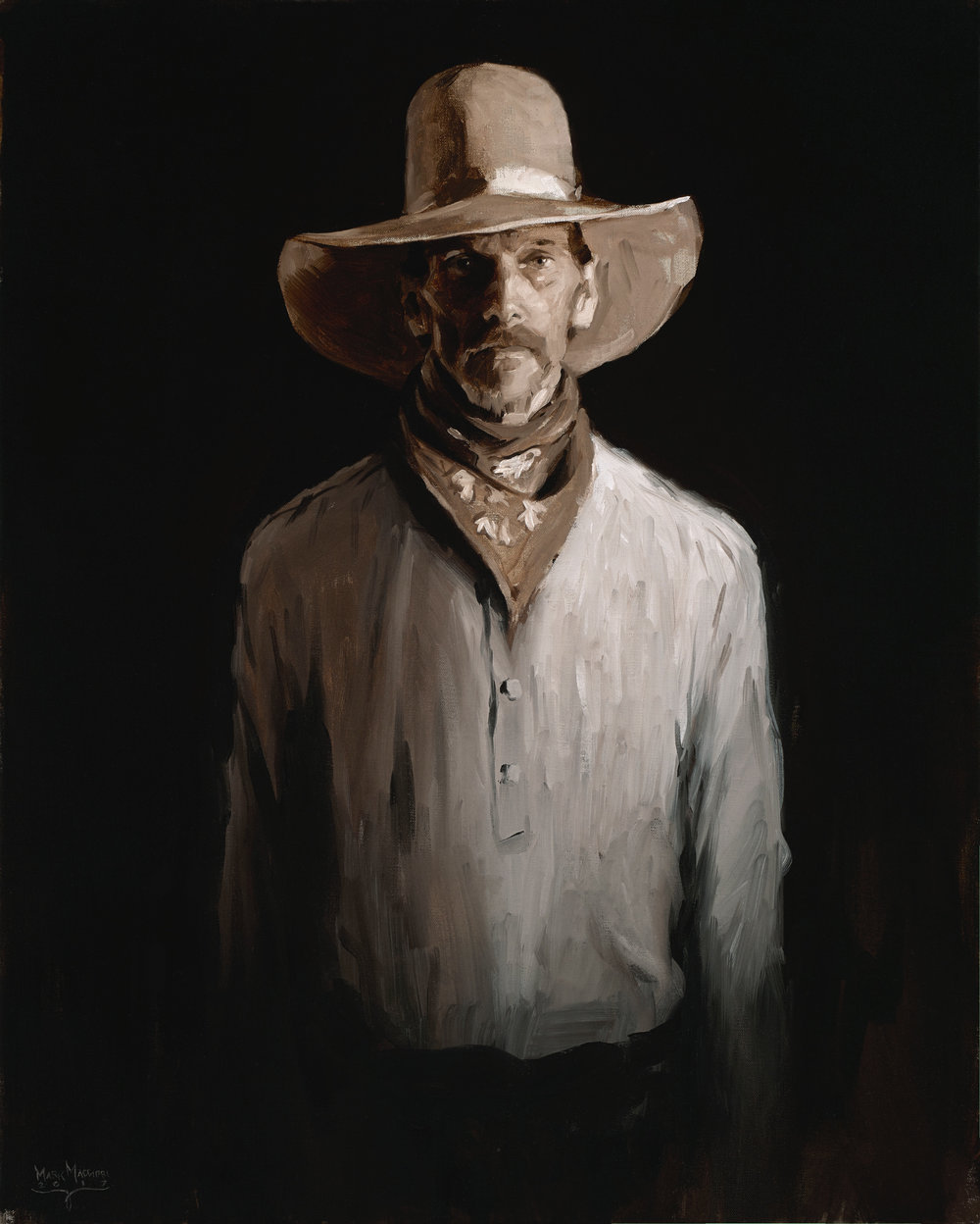 "(SOLD) ""Kansas Steve"" Oil 30""x24""    Available Now!"