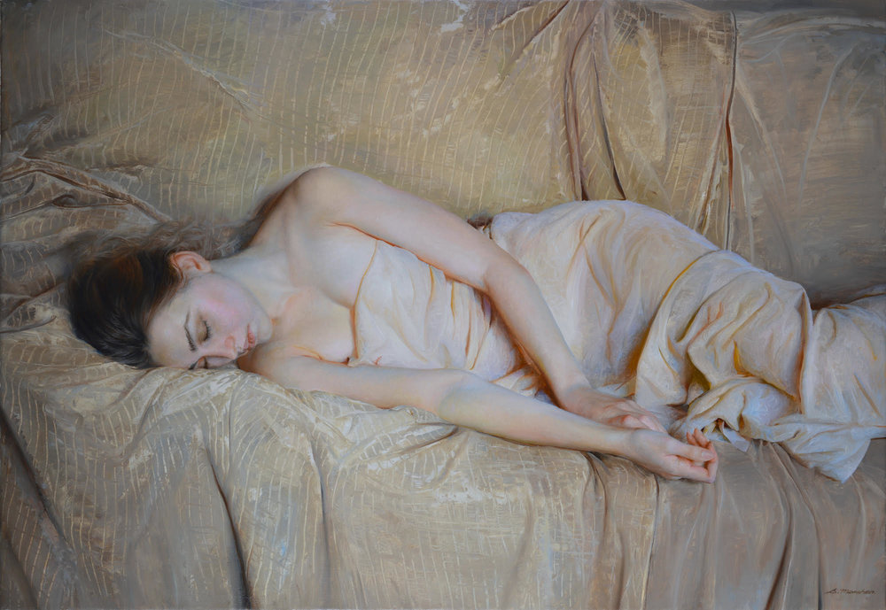 """Serge Marshennikov """"Resting"""" Oil 23""""x32"""""""