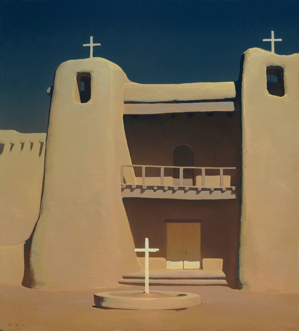 "Brett Allen Johnson ""Refuge Under an Arid Sun"" Oil 40""x36"""