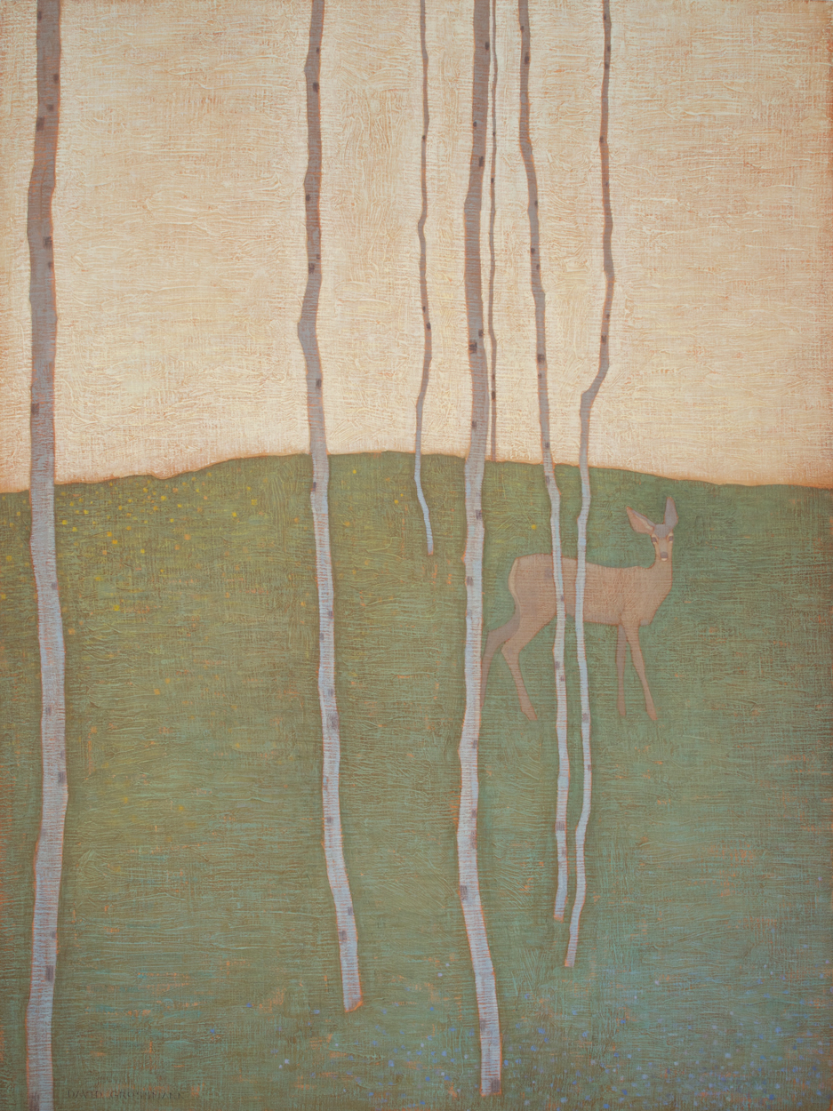"David Grossmann ""Spring Encounter"" 40""x30"" Oil"