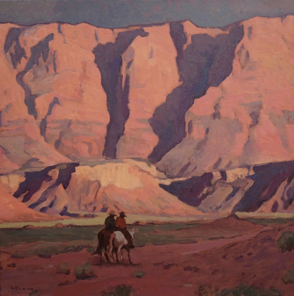 "Glenn Dean ""Shadow Riders"" 24""x24"" Oil"