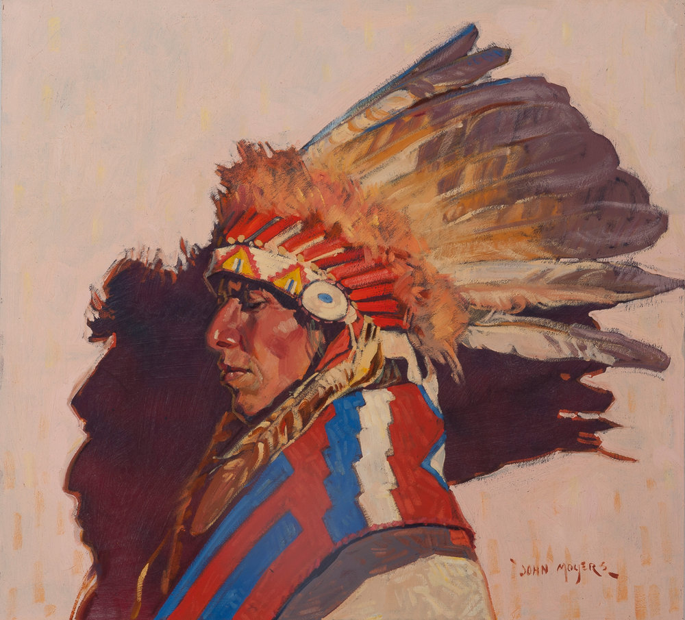 "John Moyers ""The Feather Hat"" 22""x24"" Oil"