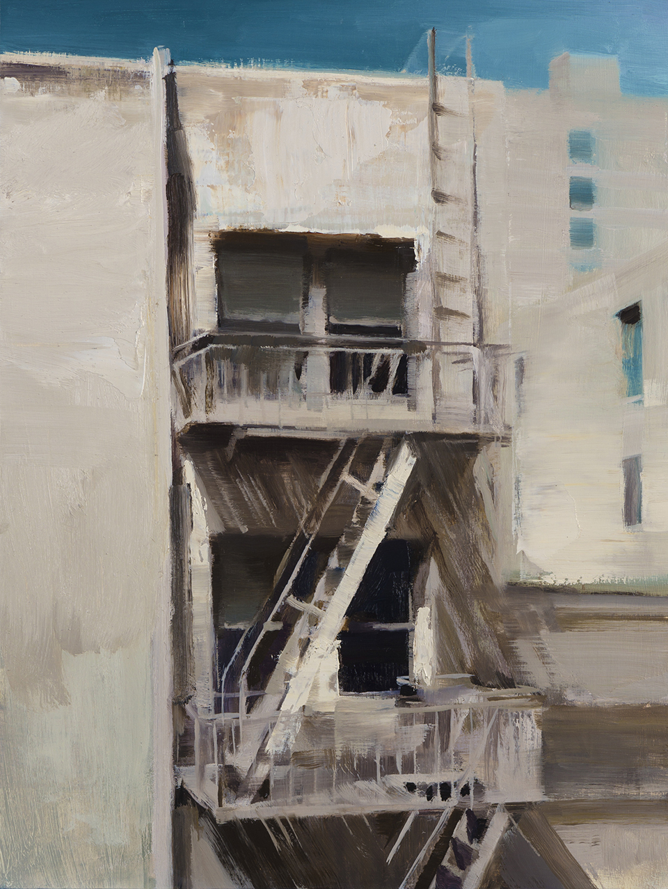 "Kim Cogan ""Rear windows"" 16""x12"" Oil"