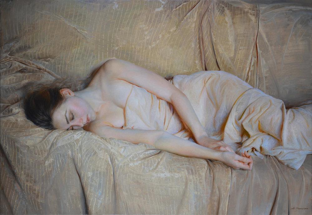"""Serge Marshennikov """"Resting"""" 23x32"""" Oil"""