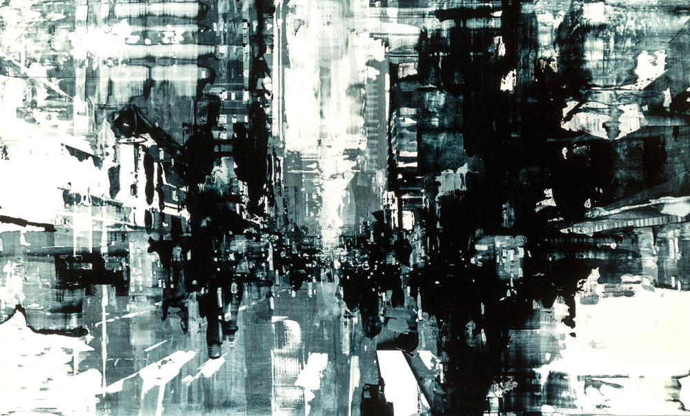 "Jeremy Mann ""Composition 174"" 36""x60"" Oil"
