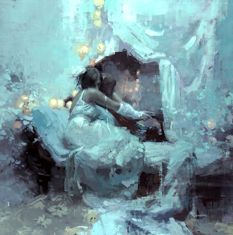 "Jeremy Mann ""Lux Julia"" 36""x36"" Oil"