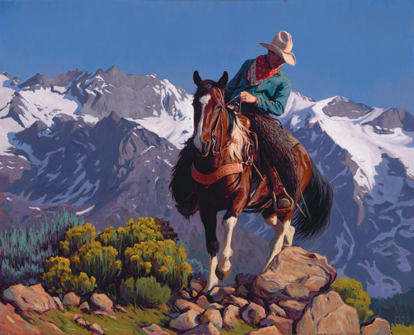Mark Maggiori, In Altitude, oil, 24 x 30.