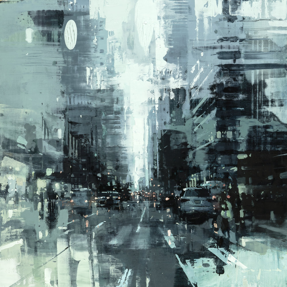 "Jeremy Mann ""NYC #39"" 18""x18"" Oil"