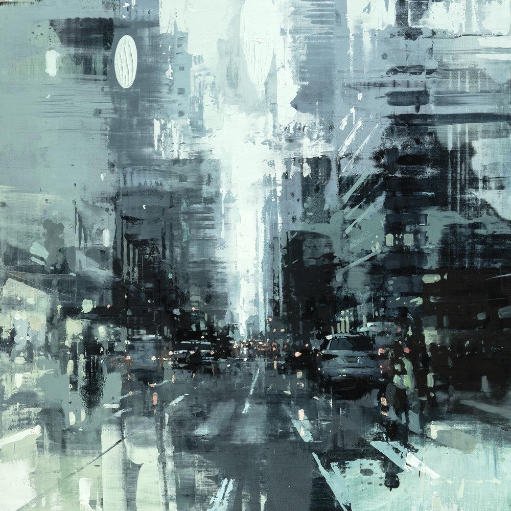 "Jeremy Mann ""NYC #39"" 18""x18"" Oil"