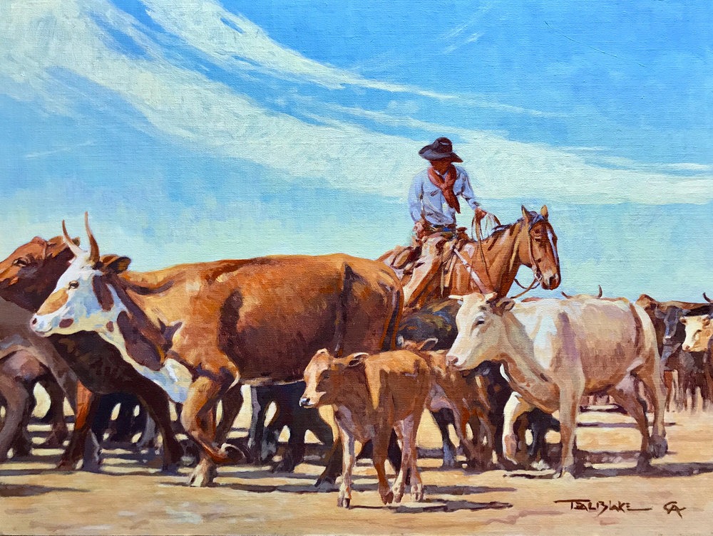 """Teal Blake """"Only the Wild Ones"""" 18""""x24"""" Oil"""