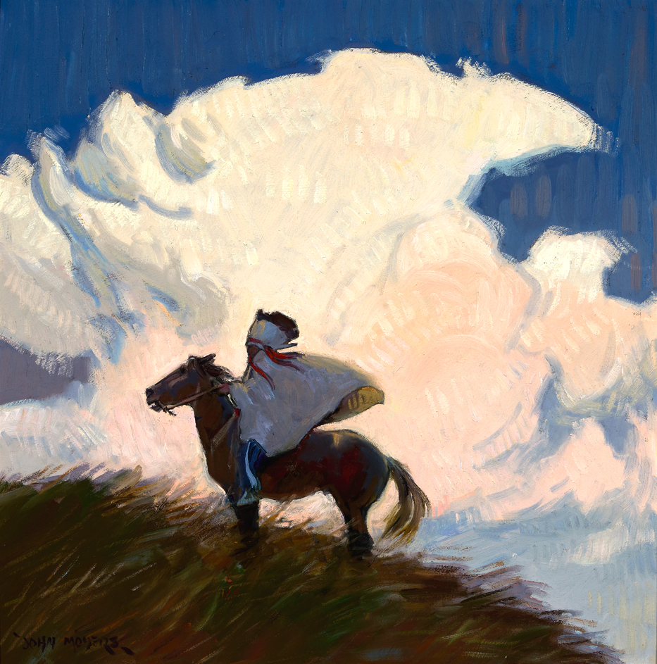 "(SOLD) John Moyers ""Turmoil"" 20""x20"" Oil"