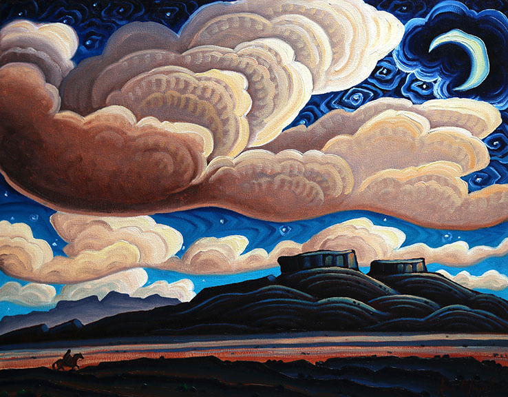 Kim Wiggins - A Starry Night on Red Rock Ranch, Oil, 11 x 14.jpg