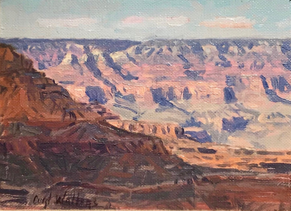 "Curt Walters ""East Rim Vista"" 6""x8"" Oil"