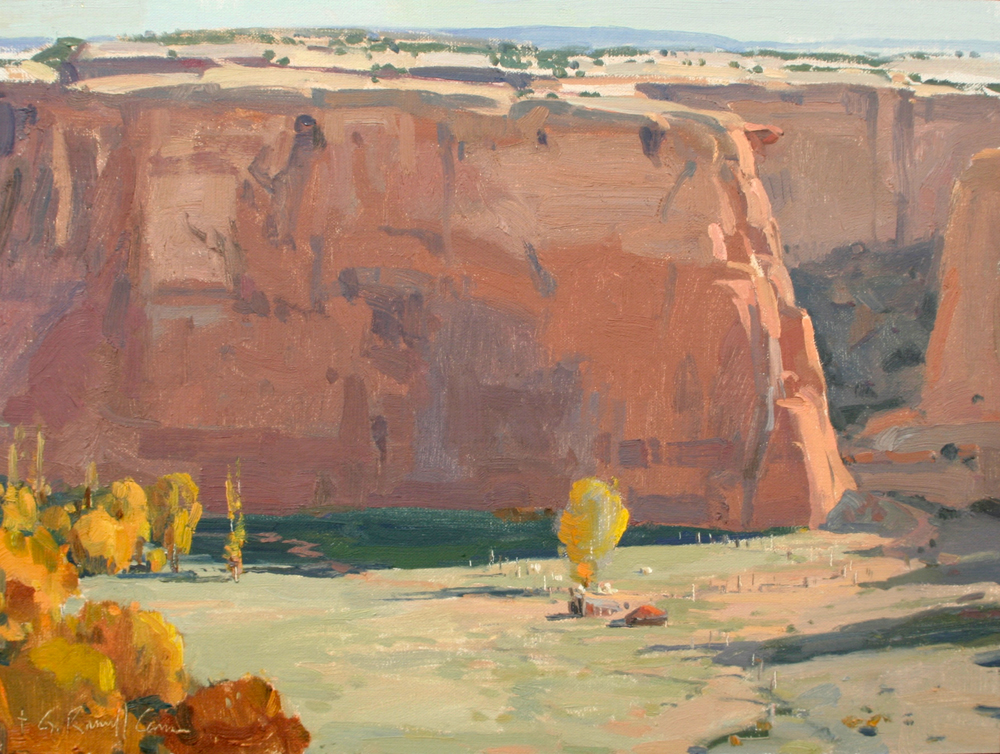 """G. Russell Case """"Canyon de Chelly"""" 12""""x16"""" Oil"""