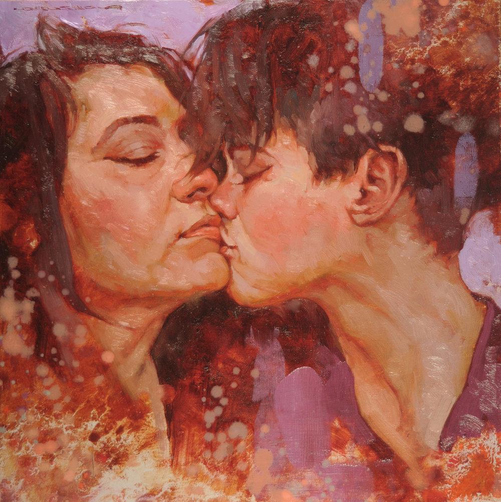 "Joseph Lorusso ""Whimsical Kiss"" 12""x12"" Oil"